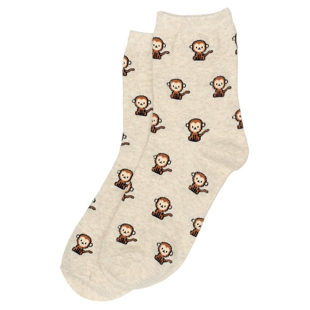 Socks Tiny Animal Monkey Made With Cotton & Spandex by JOE COOL