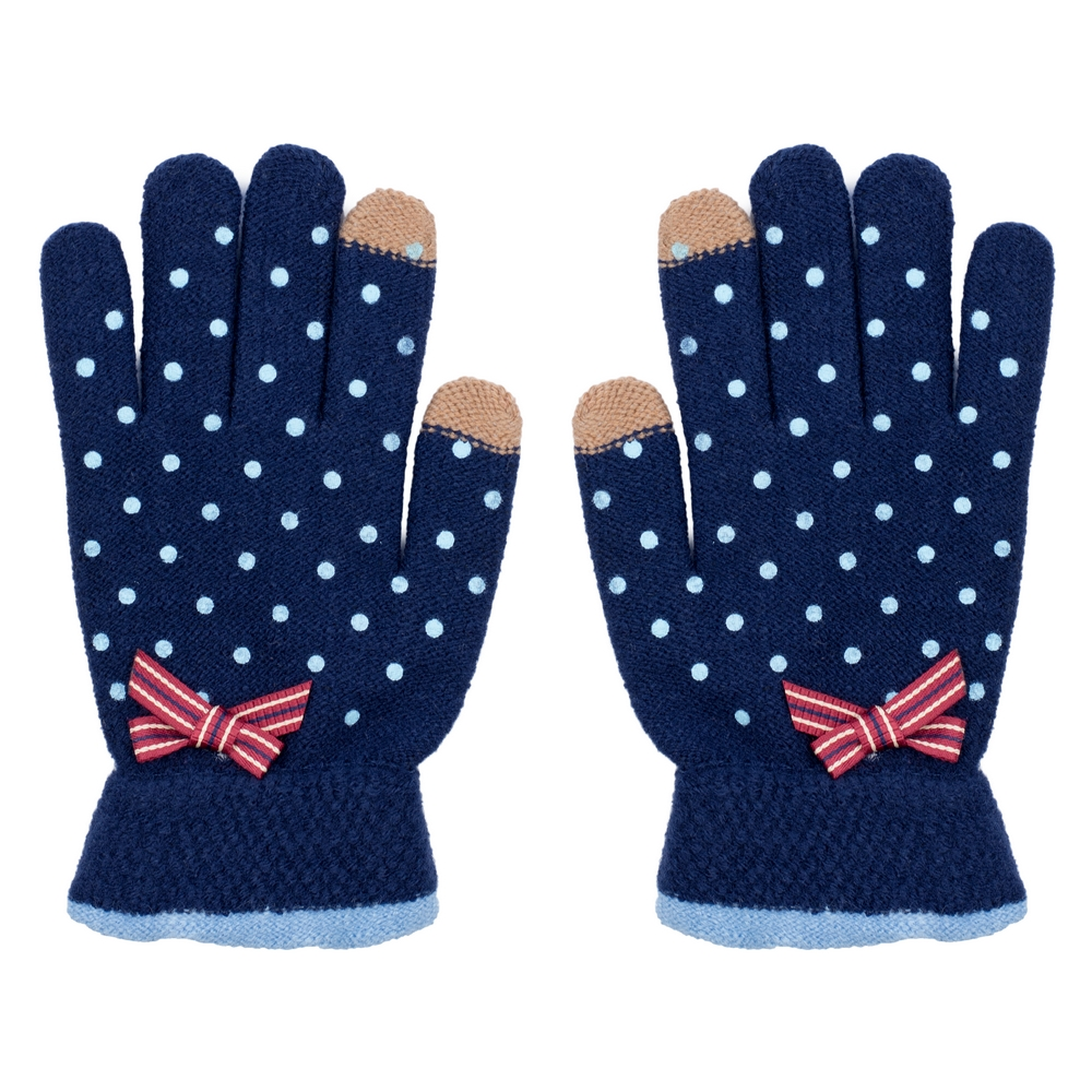Gloves Touchscreen Petit Polka Made With Acrylic by JOE COOL