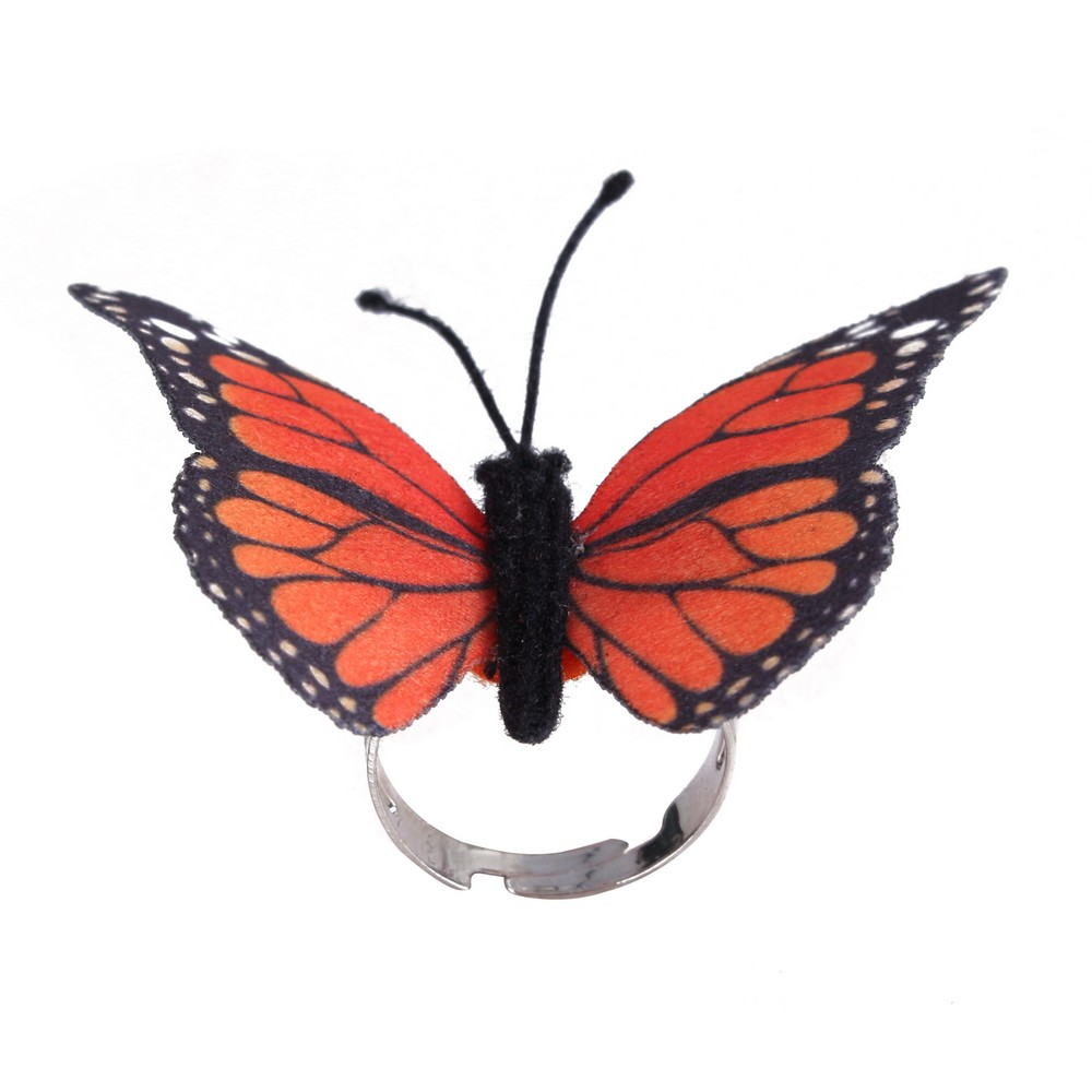 Ring Butterfly Made With Zinc Alloy & Fabric by JOE COOL