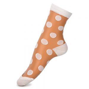 Socks Sheer Polka Made With Nylon & Spandex by JOE COOL
