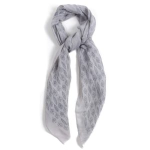 Scarf Leaf Lines Made With Polyester & Cotton by JOE COOL