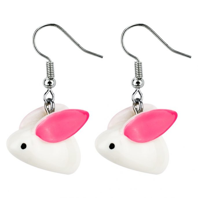 Drop Earring Bunny Made With Resin by JOE COOL