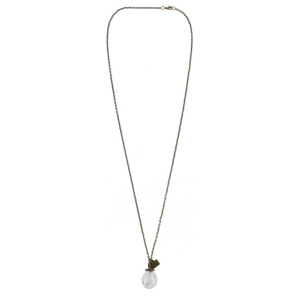 Necklace Dandelion Fluff Make A Wish Made With Iron by JOE COOL
