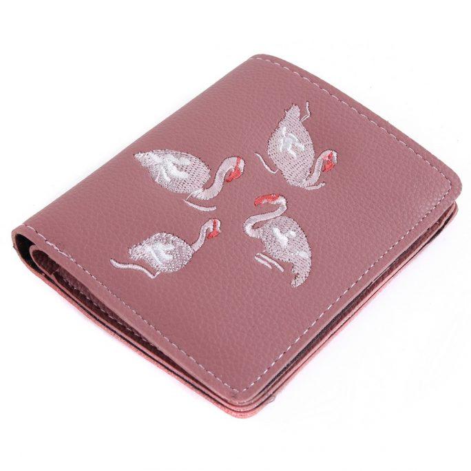 Folding Wallet Flamingo Made With Pu by JOE COOL