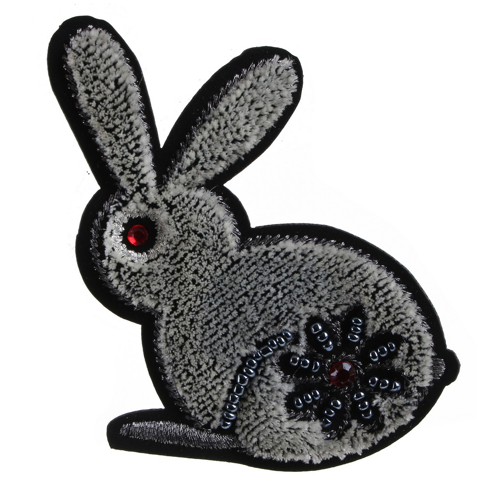 Brooch Embroidered Rabbit Made With Cotton by JOE COOL