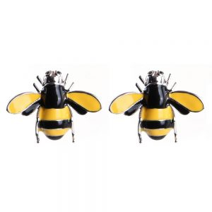 Stud Earring Classic Bumble Bee Made With Tin Alloy by JOE COOL