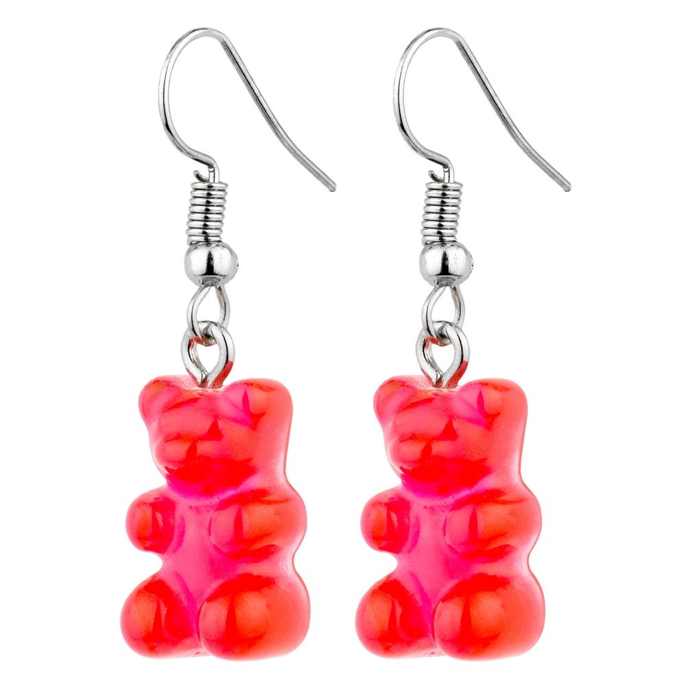 Drop Earring Gummy Bear Made With Acrylic & Iron by JOE COOL