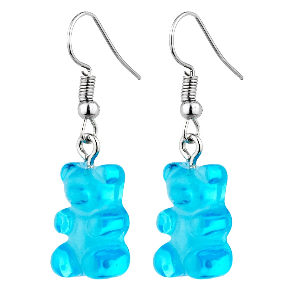 Drop Earring Gummy Bear Made With Acrylic & Iron by JOE COOL