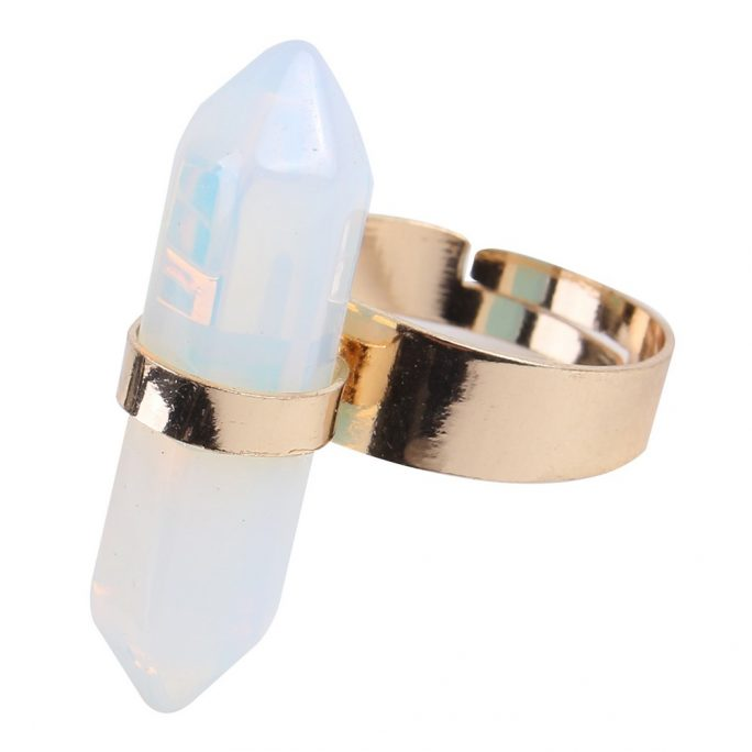 Ring Moonstone Made With Stone & Copper by JOE COOL