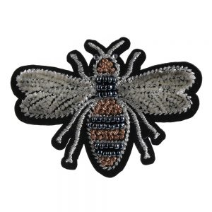 Brooch Embroidered Bee Made With Cotton by JOE COOL