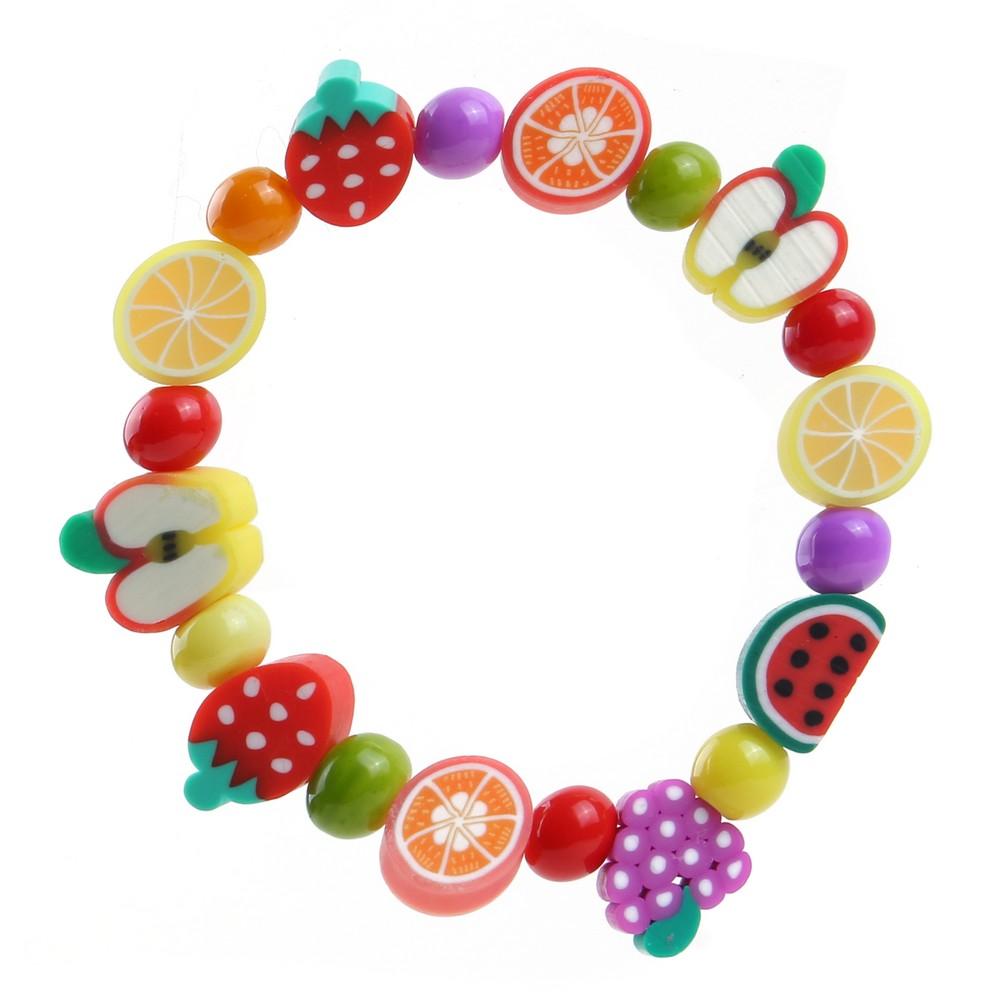 Bracelet Kids Tutti Frutti Made With Fimo by JOE COOL