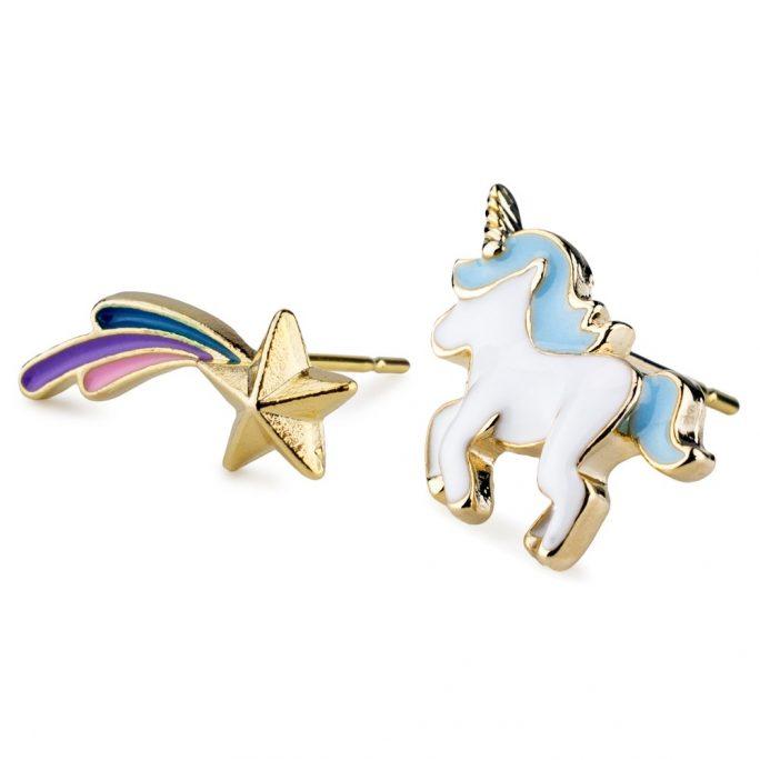 Stud Earring Unicorn Princess Made With Enamel & Tin Alloy by JOE COOL