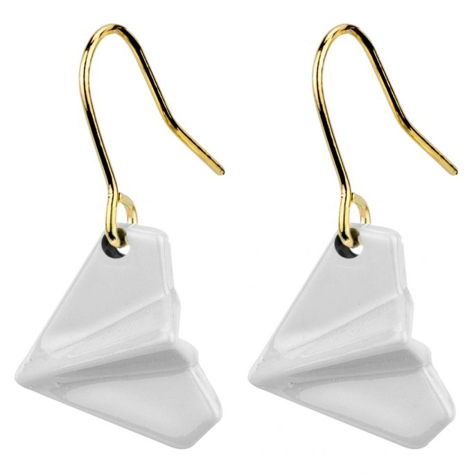 Drop Earring Paper Plane Made With Tin Alloy by JOE COOL