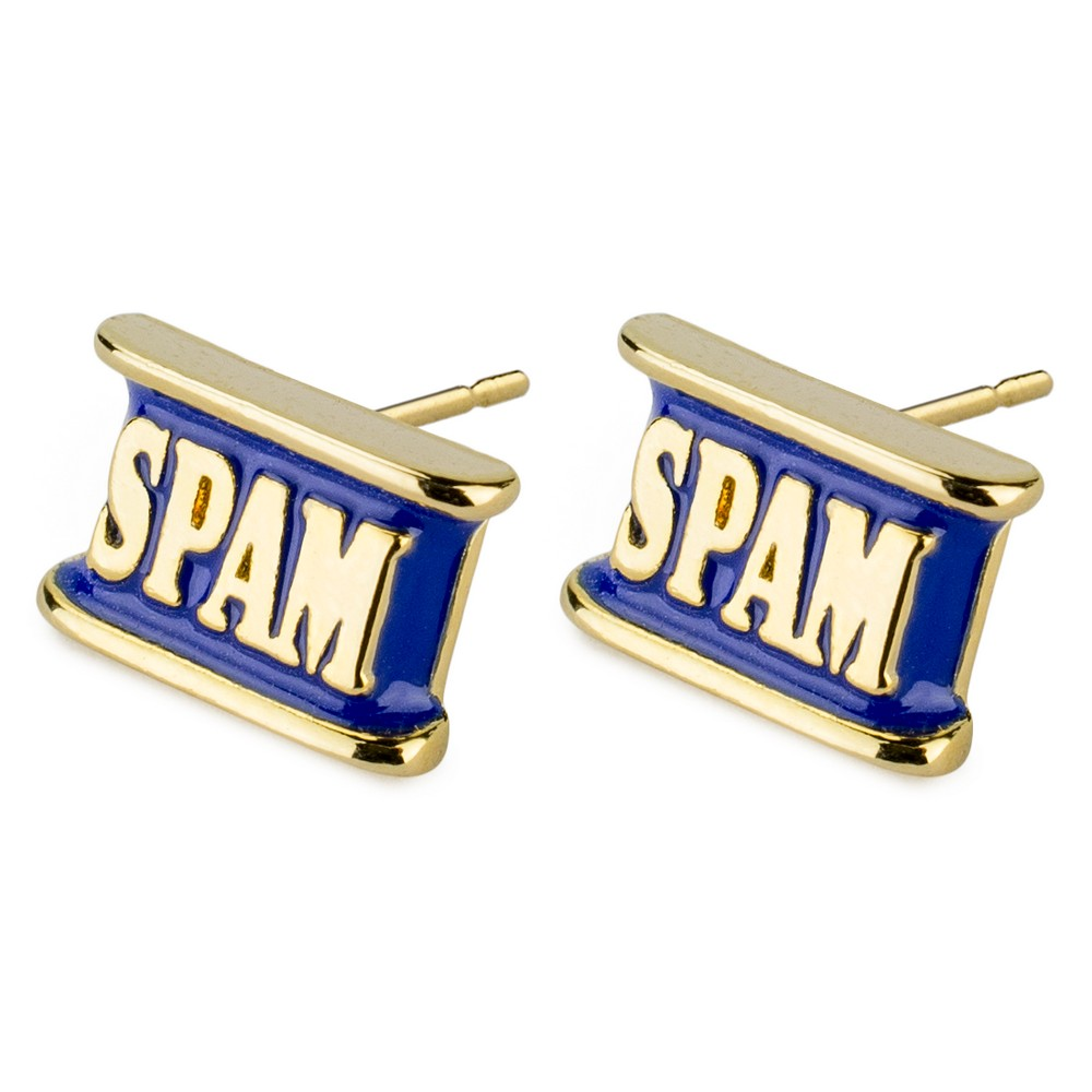 Stud Earring Spam Made With Tin Alloy & Enamel by JOE COOL