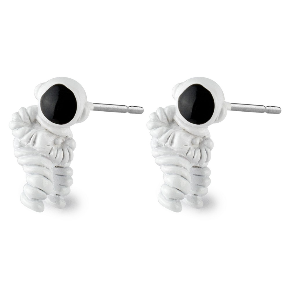 Stud Earring Mini Astronaut Made With Tin Alloy by JOE COOL