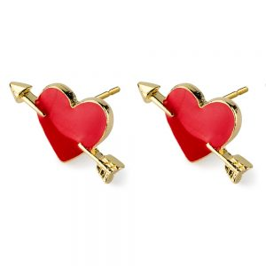 Stud Earring Cupids Heart Made With Tin Alloy by JOE COOL