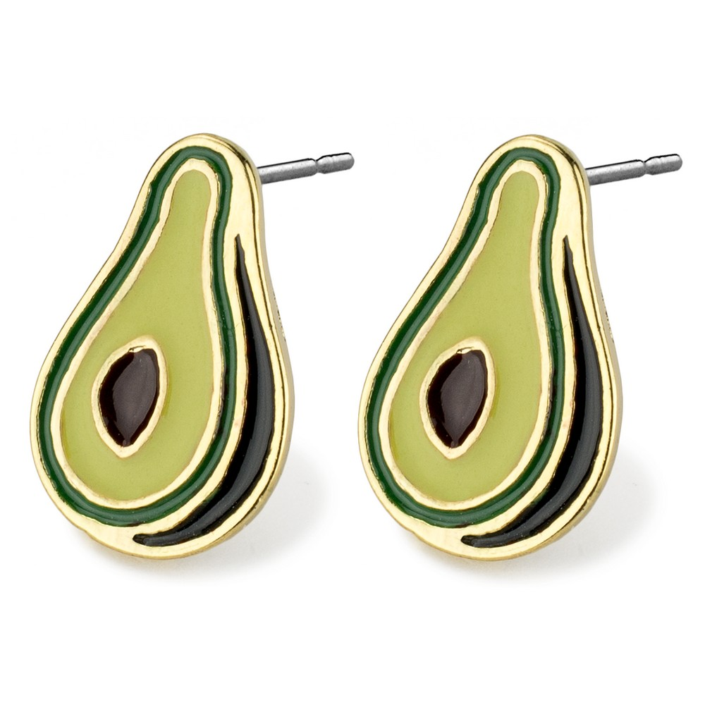 Stud Earring Avocado Made With Tin Alloy by JOE COOL