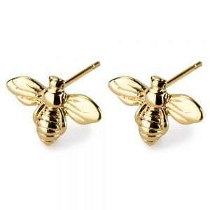 Stud Earring Dainty Bee Made With Tin Alloy by JOE COOL