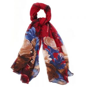 Scarf Rose Bloom Made With Polyester by JOE COOL