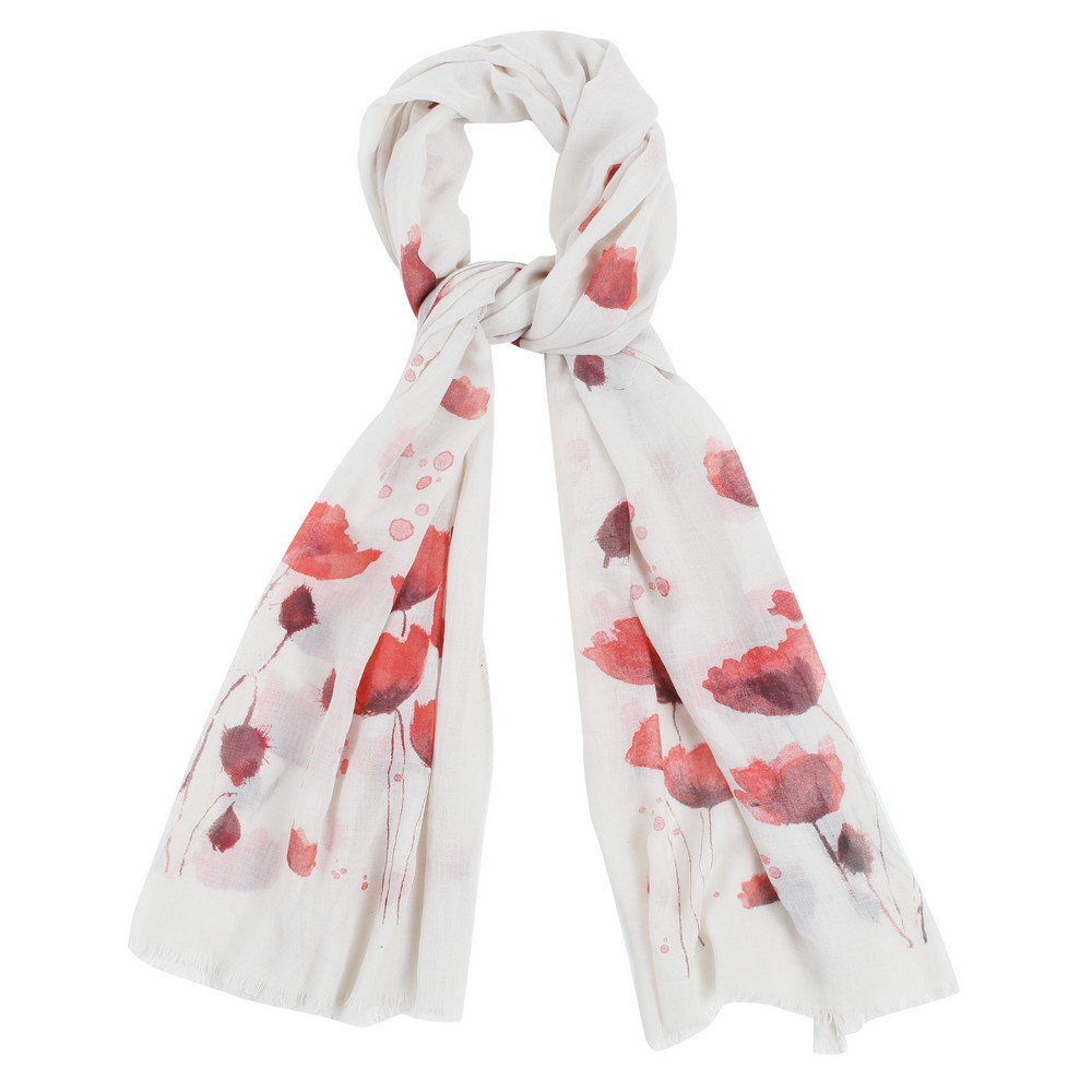 Scarf Poppy Garden Made With Polyester by JOE COOL