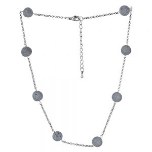 Necklace Luna Mineral Beads Made With Tin Alloy by JOE COOL