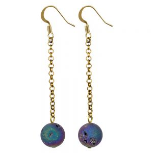 Drop Earring Luna Mineral Pendant Made With Tin Alloy by JOE COOL