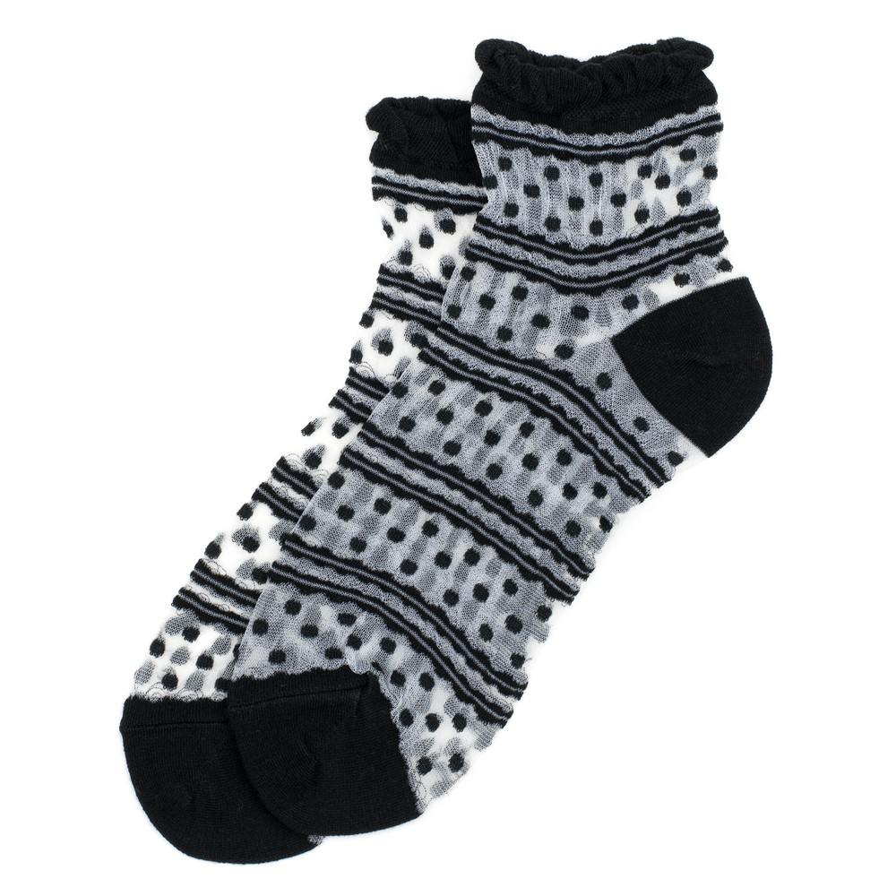 Socks Sheer Mini Dots Made With Cotton & Spandex by JOE COOL
