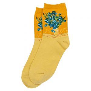 Socks Van Gogh Irises Made With Cotton & Spandex by JOE COOL