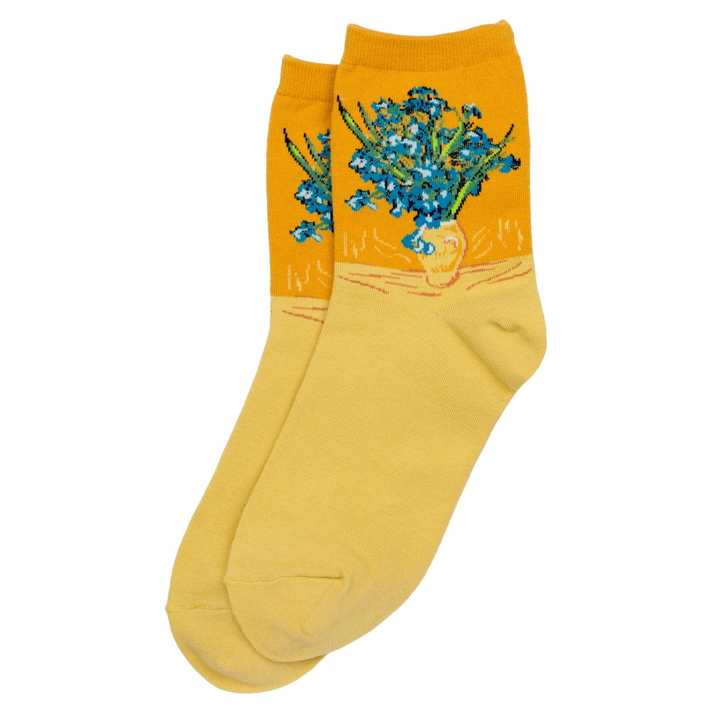 Socks Van Gogh Irises Made With Cotton & Spandex by JOE COOL