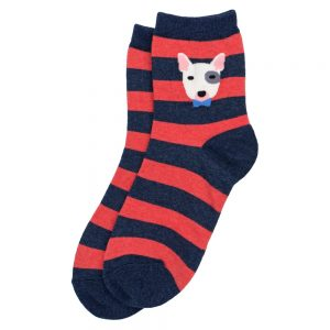 Socks Bull Terrier Stripe Made With Cotton & Spandex by JOE COOL