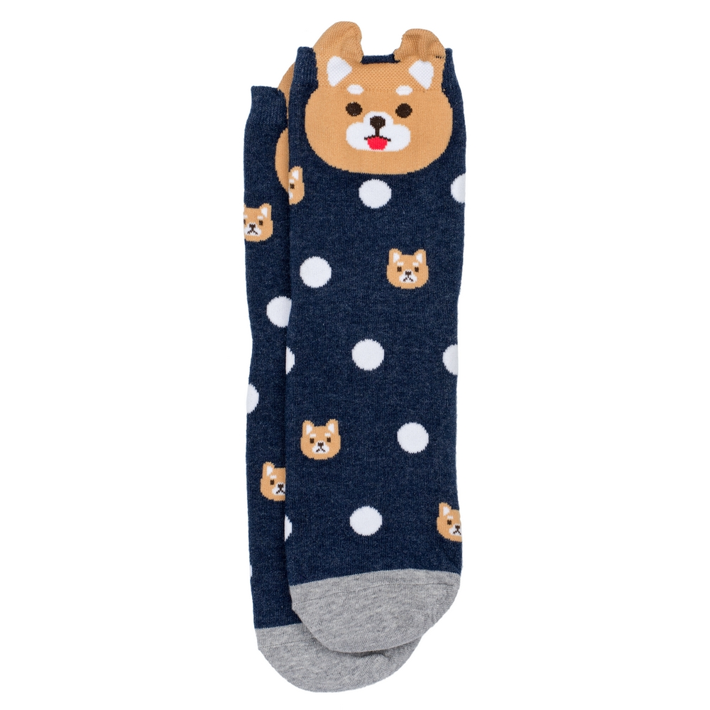 Socks Dotty Dog Cuff Made With Cotton & Spandex by JOE COOL