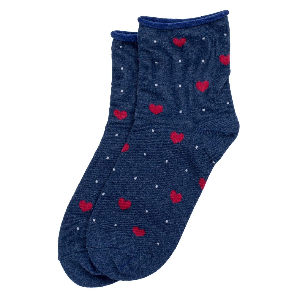 Socks Hearts Made With Cotton & Spandex by JOE COOL