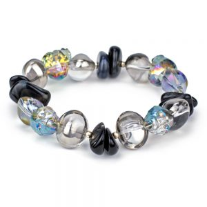 Bracelet Crystal Skull Made With Glass by JOE COOL