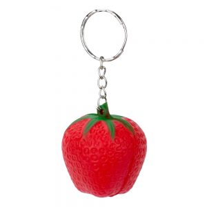 Keyring Stress Ball Strawberry Made With Foam by JOE COOL
