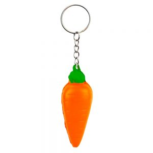 Keyring Stress Ball Carrot Made With Foam by JOE COOL