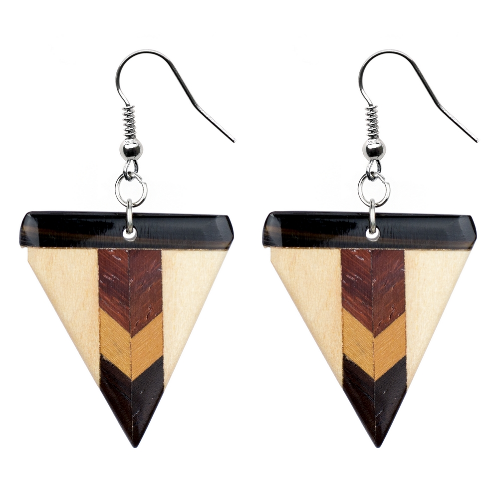 Drop Earring Fine Deco Made With Wood by JOE COOL