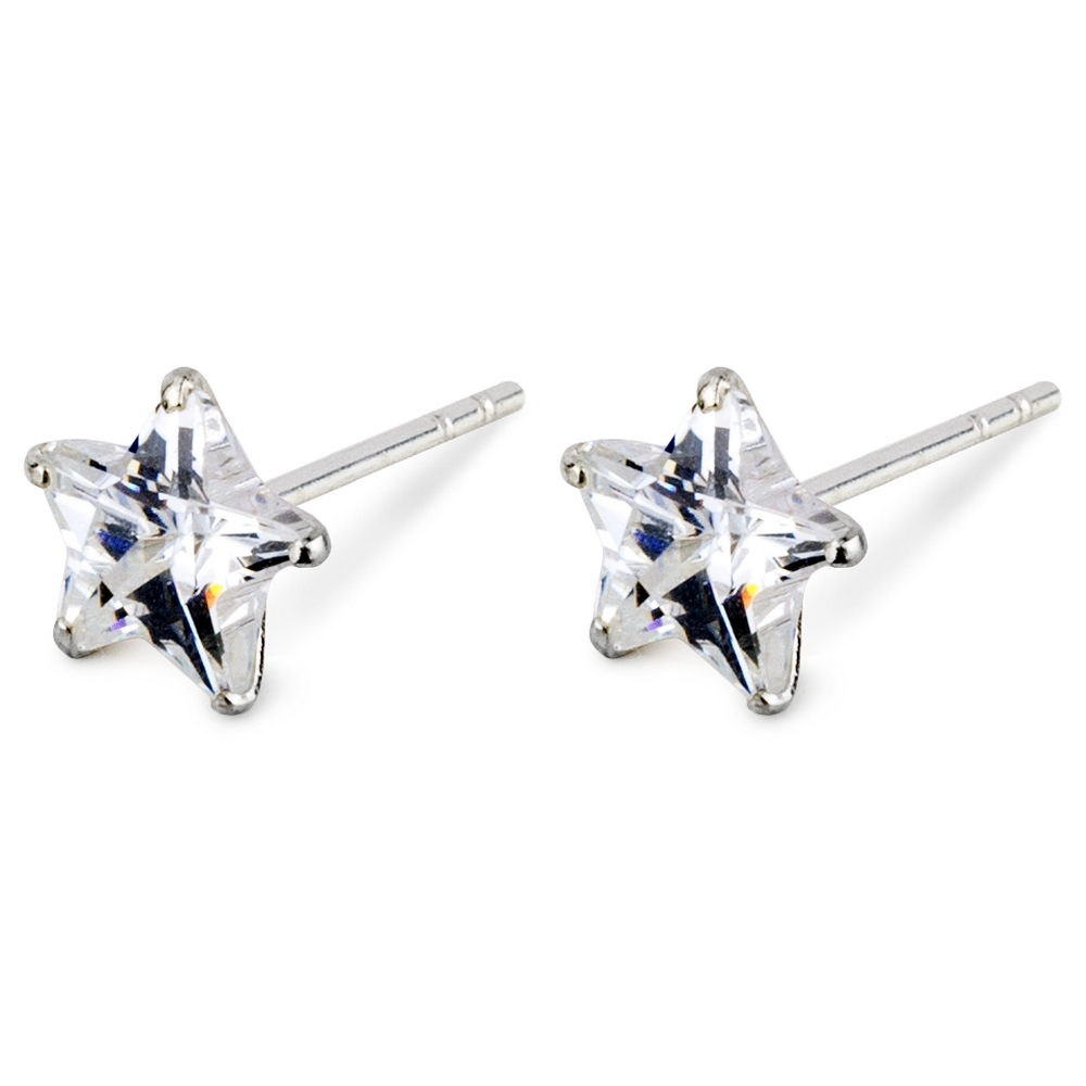 Stud Earring Star Made With 925 Silver & Crystal Glass by JOE COOL