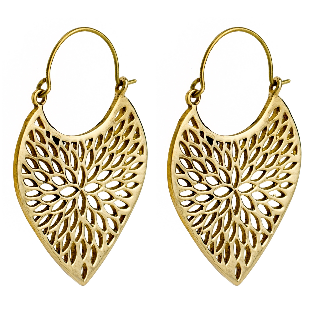 Hoop Earring Filigree Made With Brass by JOE COOL