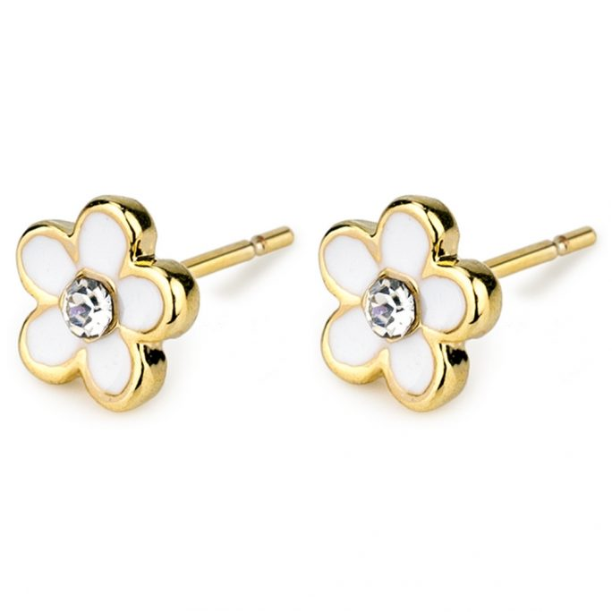 Stud Earring Flower Power Made With Tin Alloy by JOE COOL