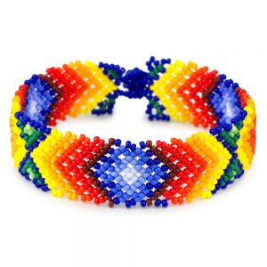 Bracelet Mexican Geometric Made With Bead by JOE COOL