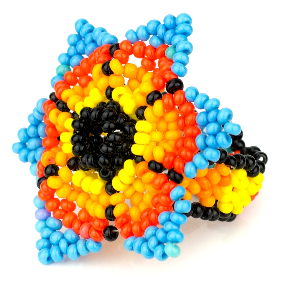 Ring Star Flower Made With Bead by JOE COOL