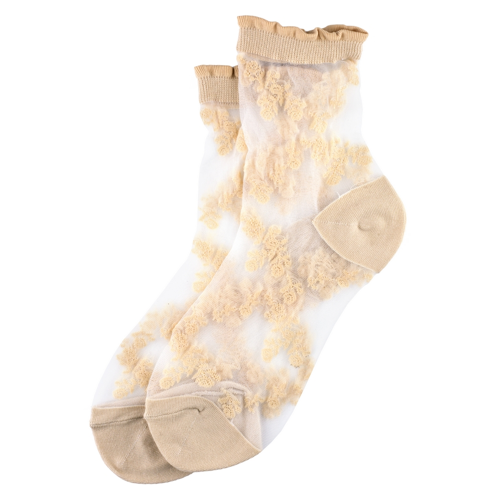 Socks Sheer Fleur Made With Nylon & Spandex by JOE COOL