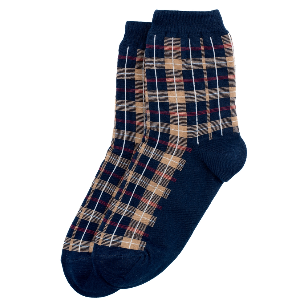Socks Tartan Check Made With Cotton & Spandex by JOE COOL