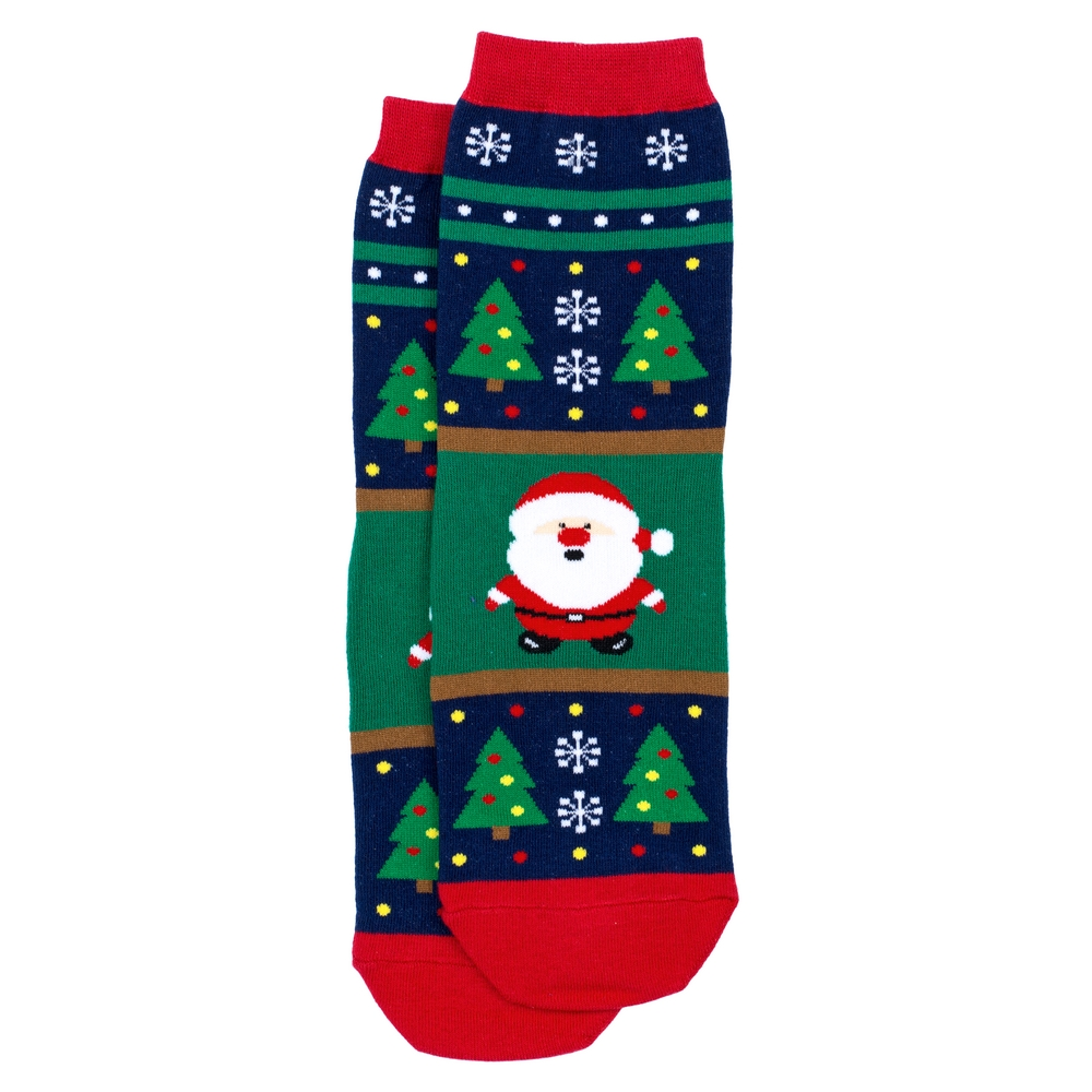 Socks Merry Christmas Santa Made With Cotton & Spandex by JOE COOL