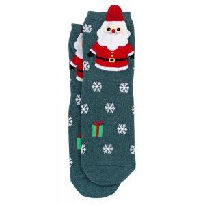 Socks Yuletide Santa Made With Cotton & Spandex by JOE COOL