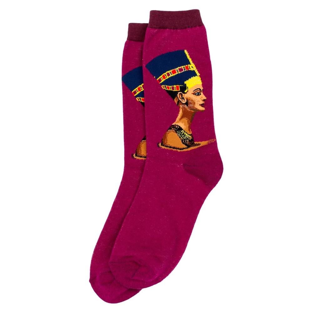 Socks Egyptian Queen Nefertiti Made With Cotton & Nylon by JOE COOL