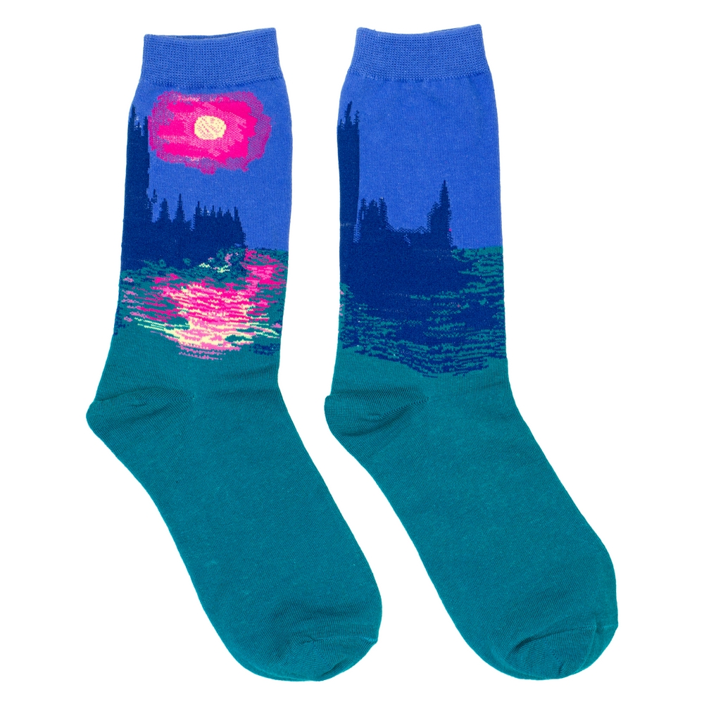 Socks Monet Houses Of Parliament Made With Cotton & Nylon by JOE COOL