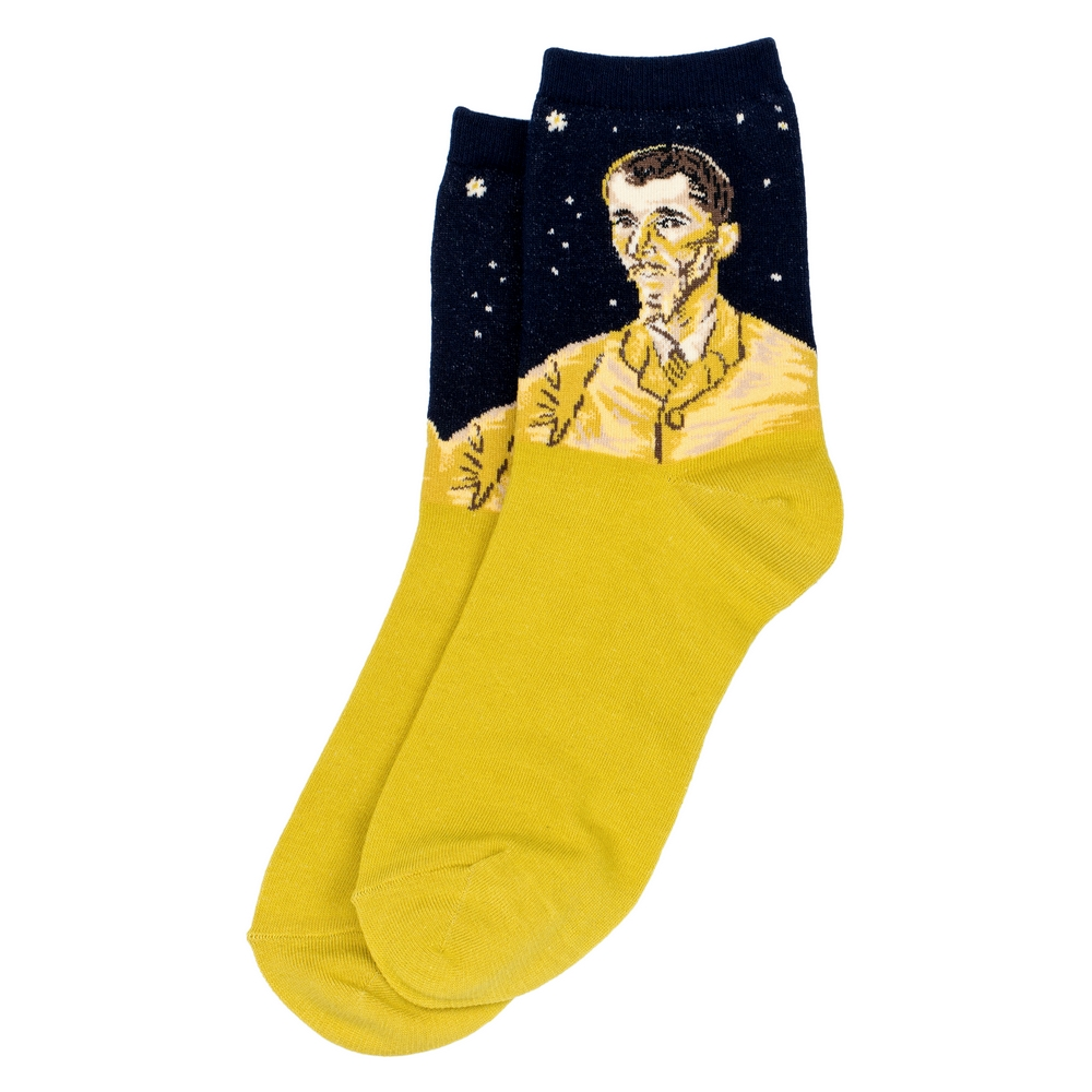 Socks Van Gogh The Portrait Of Eugène Boch Made With Cotton & Spandex by JOE COOL