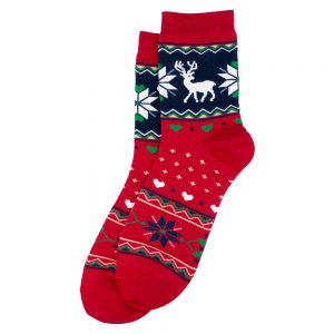 Socks Gents Nordic Deer Made With Cotton & Spandex by JOE COOL