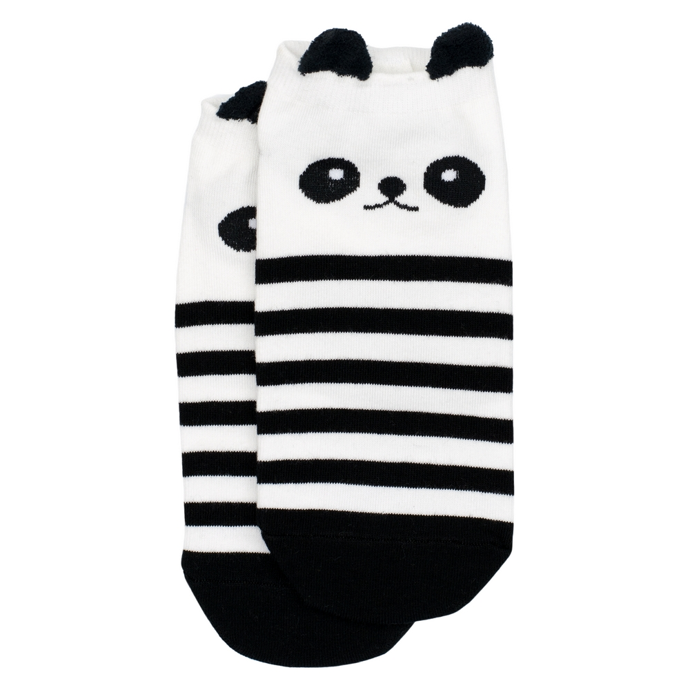 Socks Ankle Panda Stripe Made With Cotton & Spandex by JOE COOL